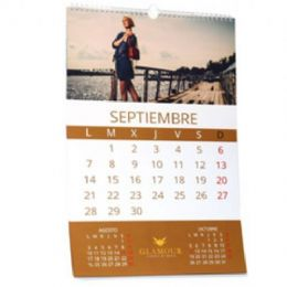 Calendario pared con espiral 49x50cm - Pack 50 unidades