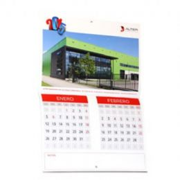 Calendarios pared grapado bimensual 35x24,5cm - Pack 50 unidades