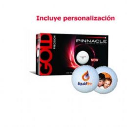 15 bolas de golf Pinnacle Gold Precision personalizadas